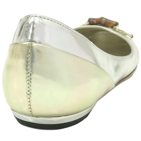 Gucci(구찌) 191310 뱀부장식 실버 메탈릭 여성용구두
