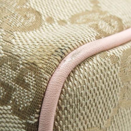 Gucci(구찌) 145750 GG 로고 핑크 레더 트리밍 파우치 숄더백 이미지5 - 고이비토 중고명품