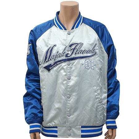 MAJAH FALVAH(메이저플레버) 블루/그레이 컬러 스타디움 자켓