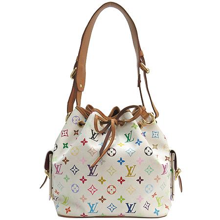 Louis Vuitton(루이비통) M42229 모노그램 멀티화이트 캔버스 쁘띠노에 숄더백 [강남본점]