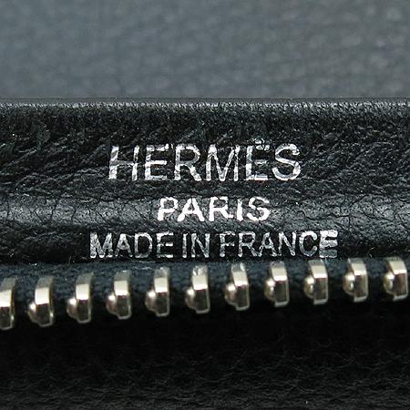 Hermes(에르메스) 블랙 레더 오버나이트 브리프 케이스겸 클러치백