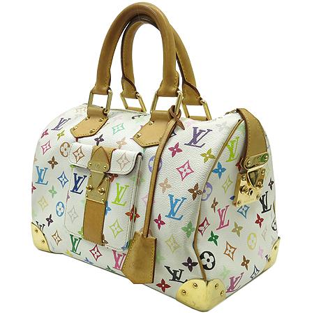 Louis Vuitton(루이비통) M92643 모노그램 멀티 컬러 화이트 스피디 30 토트백 [강남본점] 이미지2 - 고이비토 중고명품
