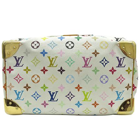 Louis Vuitton(루이비통) M92643 모노그램 멀티 컬러 화이트 스피디 30 토트백 [강남본점] 이미지5 - 고이비토 중고명품