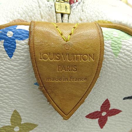 Louis Vuitton(루이비통) M92643 모노그램 멀티 컬러 화이트 스피디 30 토트백 [강남본점] 이미지6 - 고이비토 중고명품