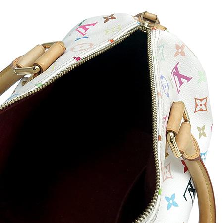 Louis Vuitton(루이비통) M92643 모노그램 멀티 화이트 스피디30 토트백