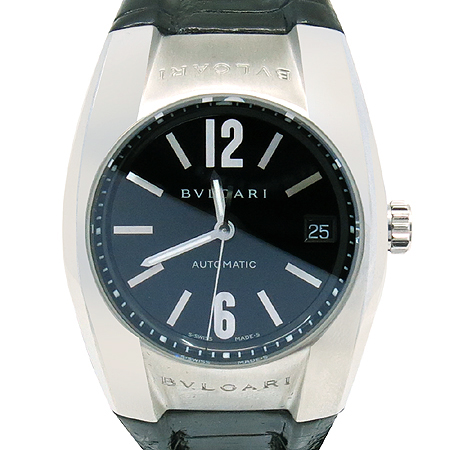 Bvlgari(불가리) ERGON(에르곤) EG35BSLD 오토매틱 가죽 밴드 남성용 시계