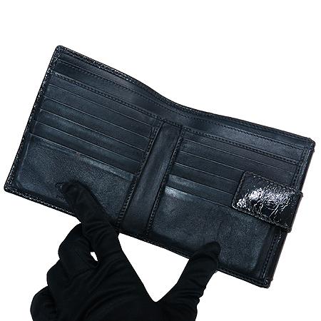 Tod's(토즈) 페이던트 블랙 은장로고 2단 반지갑