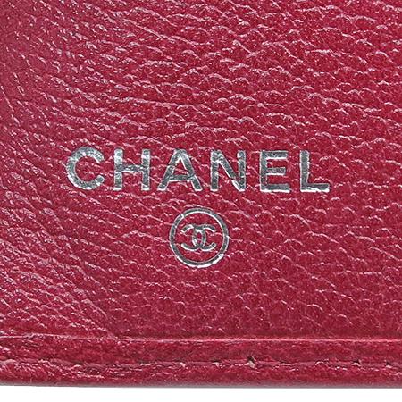 Chanel(샤넬) COCO 로고 레더 장지갑