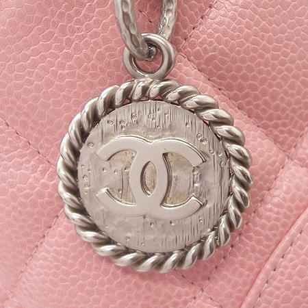 Chanel(샤넬) A01804 캐비어스킨 핑크 은장 코인 토트백