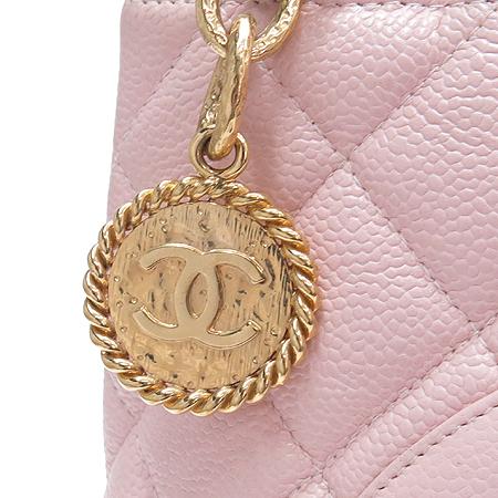 Chanel(샤넬) 핑크 캐비어스킨 금장 코인 토트백