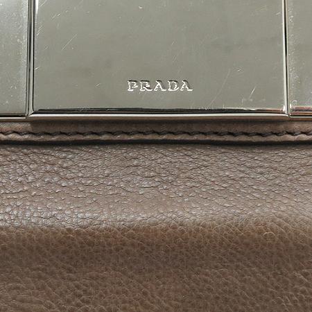 Prada(프라다) BL0462 지퍼 장식 레더 토트백