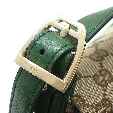 Gucci(구찌) 131474 GG로고 쟈가드 그린 패브릭 선 스티치 레더 혼방 금장체인 숄더백