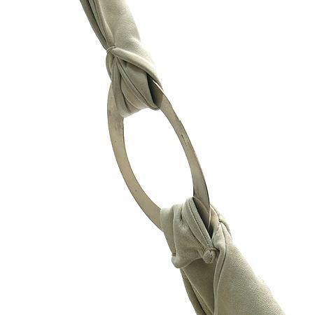 MARNI(마르니) 아이보리 컬러 레더 금장 링 장식 숄더백