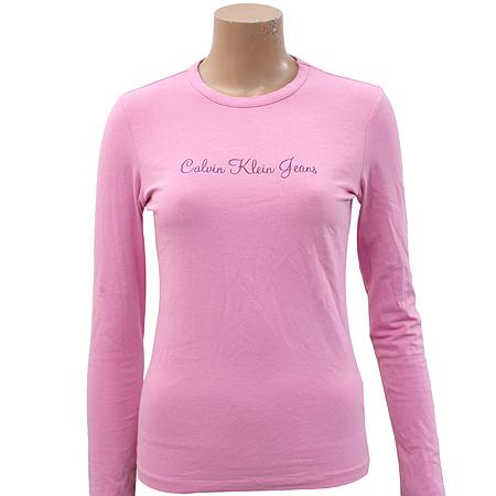 Calvin Klein(캘빈클라인) 핑크컬러 라운드 티
