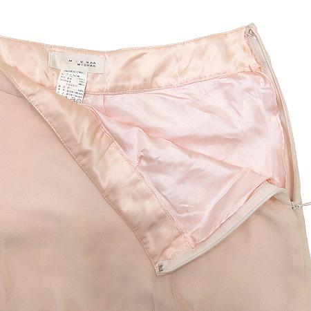 MICHAA(미샤) 실크 핑크 컬러 스커트