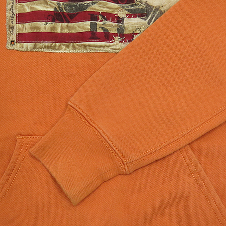 Polo Jeans(폴로 진스) 오렌지컬러 후드 티