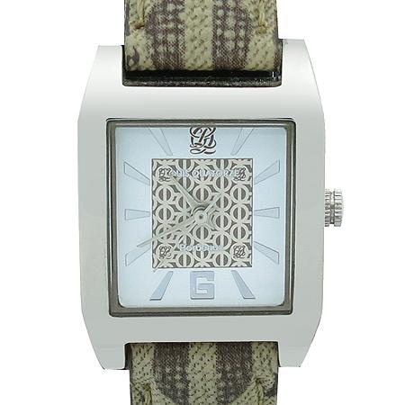 Louis_Quatorze(루이까또즈) C55414L 은장 스퀘어 가죽밴드 여성용 시계