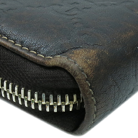 Gucci(구찌) 224253 GG로고 시마 라이트브라운 뱀부 태슬장식 짚업 장지갑