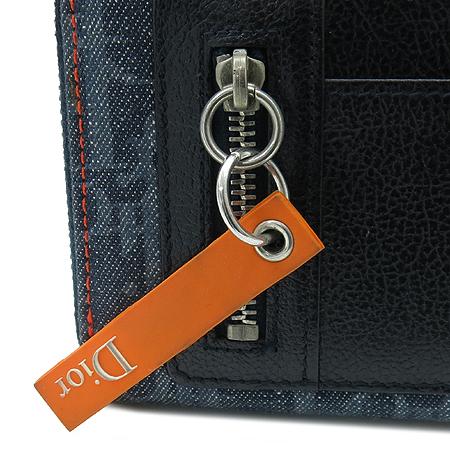 Dior(크리스챤디올) 로고 자가드 플라이트 짚업 중지갑