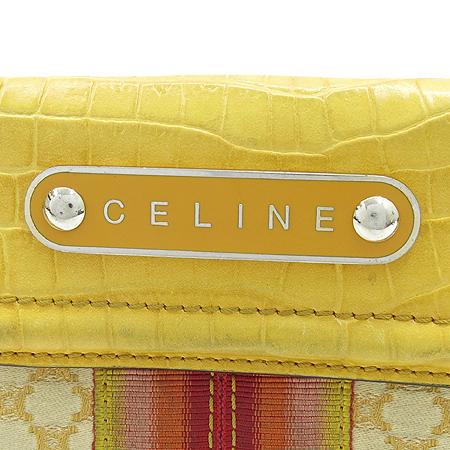 Celine(셀린느) 로고 블라종 자가드 3단 반지갑