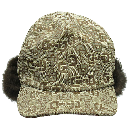 Gucci(구찌) 버클 로고 자가드 밍크 트루퍼 모자