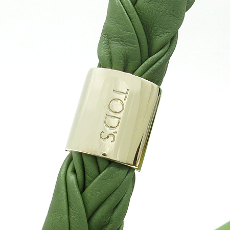Tod's(토즈) 로고 스티치 그린 컬러 호보 숄더백