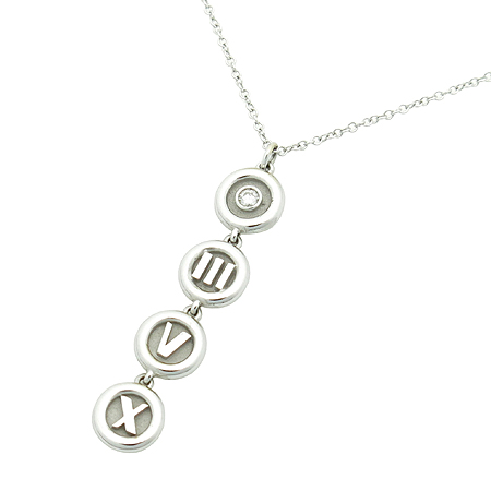 Tiffany(티파니) 18K(750) 화이트 골드 아틀라스 1포인트 목걸이