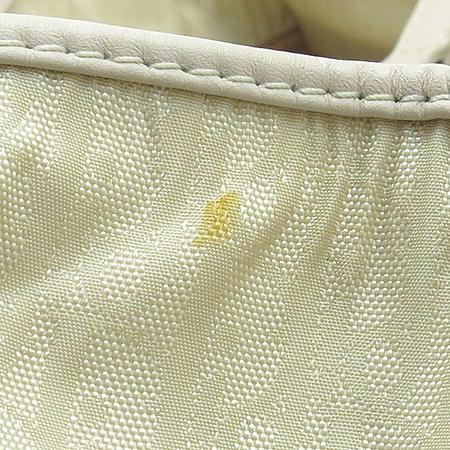 Dior(크리스챤디올) 은장 로고 장식 패브릭 토트백