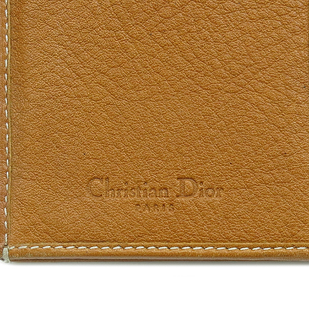 Dior(크리스챤디올) D 로고 장식 브라운 레더 가우쵸 장지갑