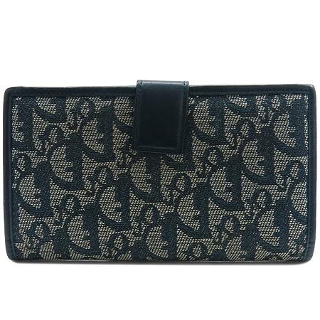 Dior(크리스챤디올) 은장 로고 장식 자가드 장지갑 [강남본점] 이미지3 - 고이비토 중고명품