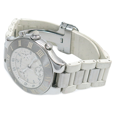 Cartier(까르띠에) W10184U2. 머스트 21세기 크로노스카프 38MM 러버밴드 공용 시계 [부산본점]