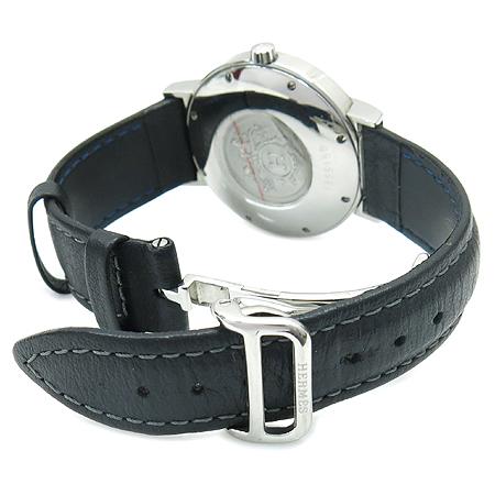 Hermes(에르메스) NO1.710 NOMADE 오토쿼츠 가죽 밴드 남성용 시계