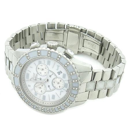Dior(크리스챤디올) CD114311 CHRISTAL(크리스탈) 38MM 48포인트 베젤 다이아 크로노 그래프 남녀공용 시계