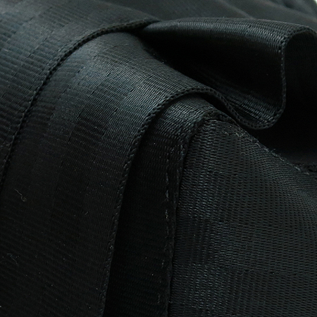 HARVEYS(하비스) 블랙 패브릭 은장 로고 장식 토트백+숄더스트랩