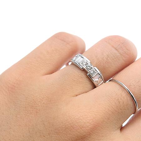 Tiffany(티파니) 18K 화이트골드 3P 다이아 아틀라스 반지