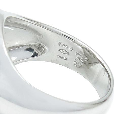 Bvlgari(불가리) 18K 화이트 골드 옵티컬 오닉스 반지 - 14호