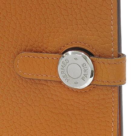 Hermes(에르메스) 도곤 컴팩트 오렌지 레더 다용도 지갑 이미지2 - 고이비토 중고명품