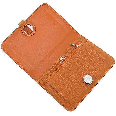 Hermes(에르메스) 도곤 컴팩트 오렌지 레더 다용도 지갑 이미지3 - 고이비토 중고명품