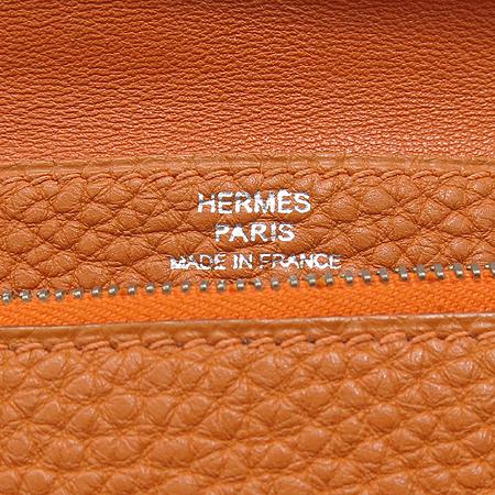 Hermes(에르메스) 도곤 컴팩트 오렌지 레더 다용도 지갑 이미지5 - 고이비토 중고명품