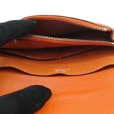 Hermes(에르메스) 도곤 컴팩트 오렌지 레더 다용도 지갑 이미지6 - 고이비토 중고명품