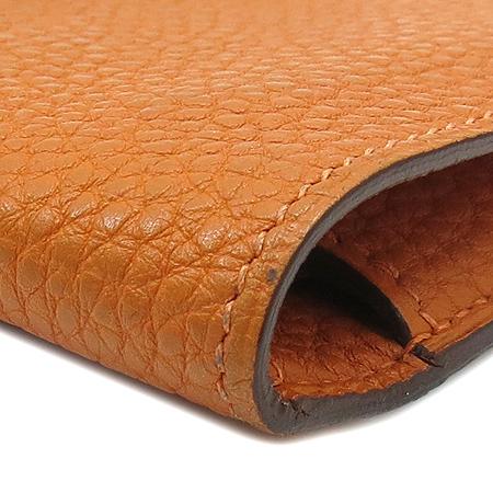 Hermes(에르메스) 도곤 컴팩트 오렌지 레더 다용도 지갑 이미지7 - 고이비토 중고명품