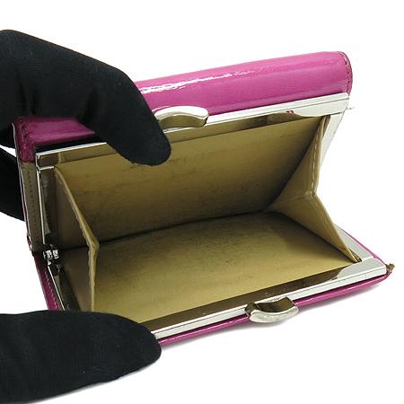 Vivienne_Westwood(비비안웨스트우드) ORB 로고 장식 페이던트 엠파이어 핫핑크 반지갑