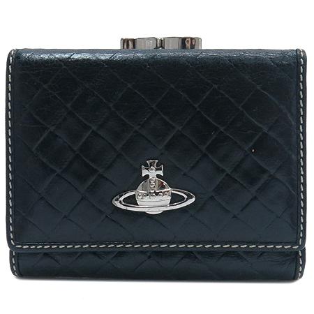 Vivienne_Westwood (비비안 웨스트우드) ORB 은장 로고 장식 레더 반지갑