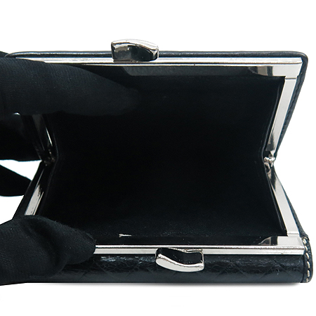 Vivienne_Westwood (비비안 웨스트우드) ORB 은장 로고 장식 레더 반지갑 이미지4 - 고이비토 중고명품