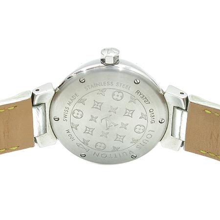 Louis Vuitton(루이비통) Q131G 포에버 12포인트 다이아 + 다이얼 다이아  실버 메탈릭 가죽밴드 여성용 시계