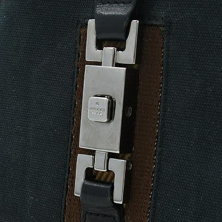 Gucci(구찌)  035 2091 은장 로고 장식 삼색 스티치 쟈가드 반지갑
