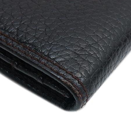 FURLA(훌라) 은장 로고 스웨이드 스티치 레더 장지갑