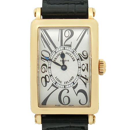 FRANCK MULLER (프랭크 뮬러) 900QZ 18K 핑크골드 금통 여성용 가죽밴드 시계