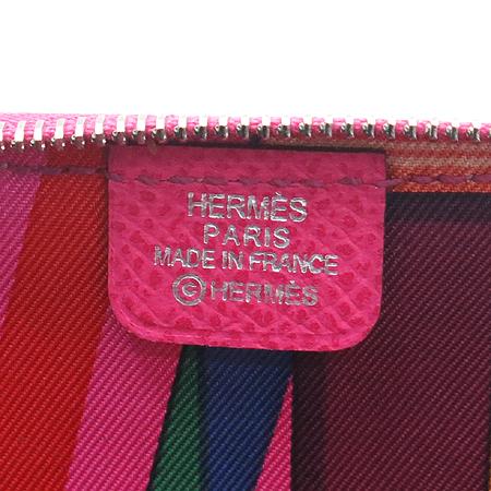 Hermes(에르메스) 핑크 실크혼방 아잡(AZAP) 짚업 동전지갑 [강남본점] 이미지4 - 고이비토 중고명품