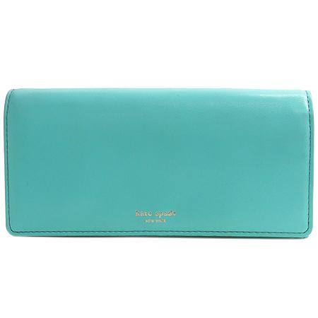 KATESPADE(케이트스페이드) JANE STREET REMY 금장 로고 장식 민트 컬러 레더 장지갑